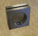selbstklebende quadratische Edelstahl Griffmuschel (kein Loch nötig) 60x60