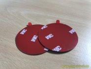 selbstklebende runde Klebepads d=50mm für Griffmuschelverklebung (Paar) dunkelgrau d=50