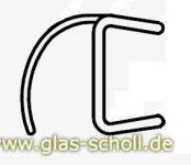 schlanke Spaltdichtung mit gebogener Weichlippe (2010mm) Duschdichtung für 8mm Glas