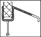 unteres Wasserabweisprofil mit grosser 135° Lippe (1000mm) Duschdichtung für 6-8mm Glas