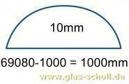 unterer gerader 10mm Acrylstab klar durchsichtig  (1000 mm) Schwallschutz/Duschdichtung