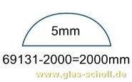 unterer gerader 5mm Acrylstab klar durchsichtiger Schwallschutz  (2000 mm) (Duschdichtung)