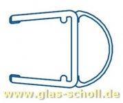 seitliche Streifdichtung (2500mm) Duschdichtung für 10-12mm Glas