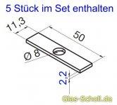 Ausgleichsmaterial für Wandanschlußprofil P8884 (10 Stk)