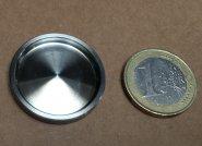 einseitige kleine aufklebbare Edelstahl Griffmuschel d=30