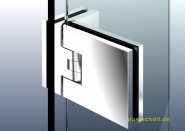 Flamea+ 90° extrastark Glas-Glas Pendel-Duschtürband (verdeckte Verschraubung) glanzverchromt