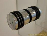 beidseitiger Türgriff mit Gummiringen d=30mm für Lochbohrung 14mm MS7 glanzverchromt