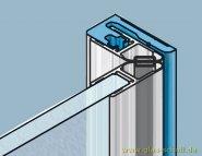 Trägerprofil für Dichtungen als Türanschlag 2010 mm - E6/EV1 naturfarbig eloxiert