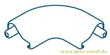 Eckverbinder 90 Grad für unteren geraden Schwallschutz WEISS Duschdichtung