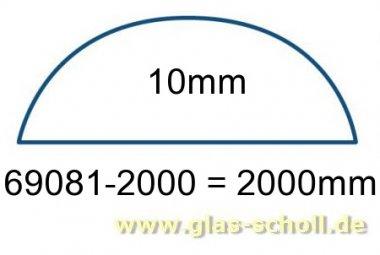 unterer gerader 10mm Acrylstab klar durchsichtig  (2000 mm) Schwallschutz/Duschdichtung