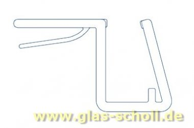 Anschlagdichtung 90° (2500mm) für 10 Glas