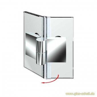 Nivello+ 135° Glas-Glas LINKS Hebe-Senk flächenbündig Anschlag glanzverchromt