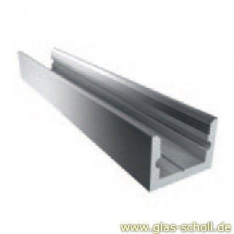 Boden-Wand-Profil mit Silikonband (U-Profil) silber matt