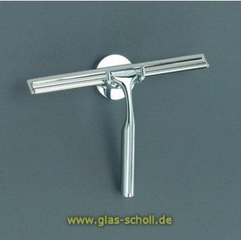 Glaswischer QUICK mit Wandhalterung/Ersatzlippe h=16,5cm chrom