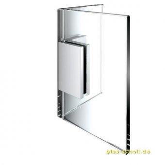 Flamea+ Winkelverbinder 90° Glas-Glas (verdeckte Verschraubung) glanzverchromt