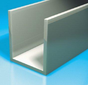 Boden-Wand-Profil (U-Profil) 17x20x1,5 2,5m Länge mattverchromt