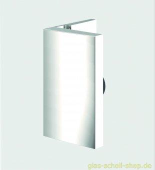 Pavone flächenbündiger Winkelverbinder Glas-Wand 90° glanzverchromt