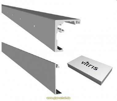 SoftStop-Schiebetür Set Portavant60 1flgl. (OHNE GLAS) EV1 silber matt