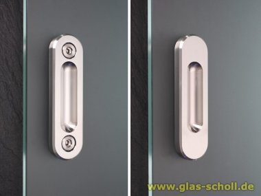 ProTec Design-Edelstahl Griffmuschel (anschraubbar)