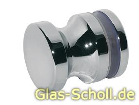 einseitiger Türgriff, mit Gegenplatte d=35mm für Lochbohrung 12mm glanzverchromt