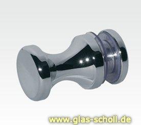 einseitiger Türgriff, mit Gegenplatte d=20mm für Lochbohrung 12mm glanzverchromt
