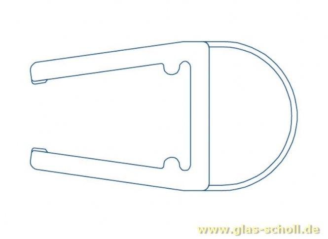 Streifdichtung (2500mm) Duschdichtung für 6-8mm Glas - ÜBERLÄNGE