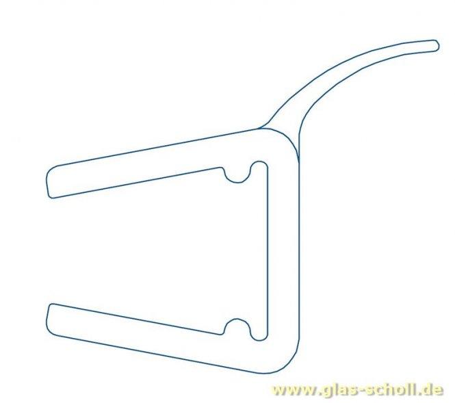 Wasserabweisprofil 135° (2010mm) Duschdichtung für 6-8mm Glas