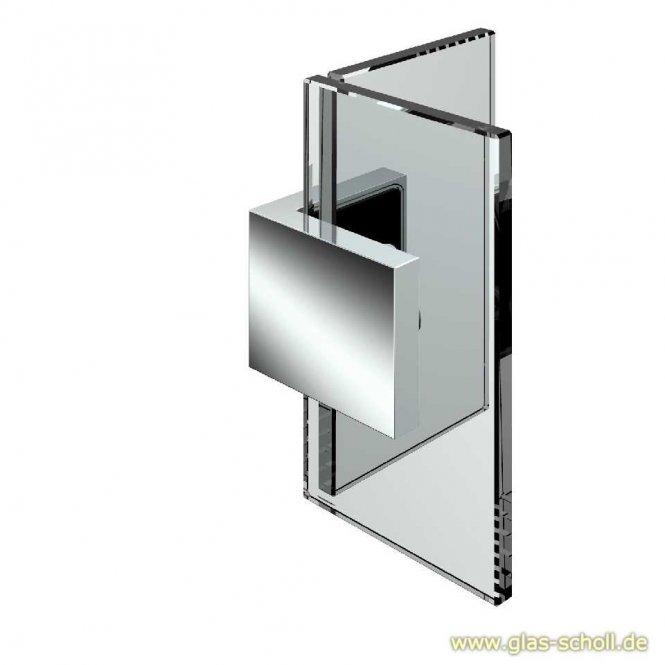 Nivello+ 90° Winkelhalter Glas-Glas flächenbündig glanzverchromt