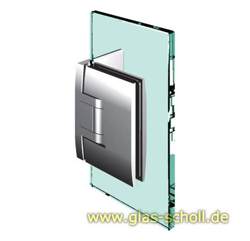 Pontere 90° Glas-Wand Duschpendeltürband (einseitige Befestigungslasche) glanzverchromt