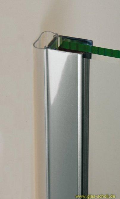 Streifdichtung mit CHROMDEKOR (2010mm) Duschdichtung für 6-8mm Glas