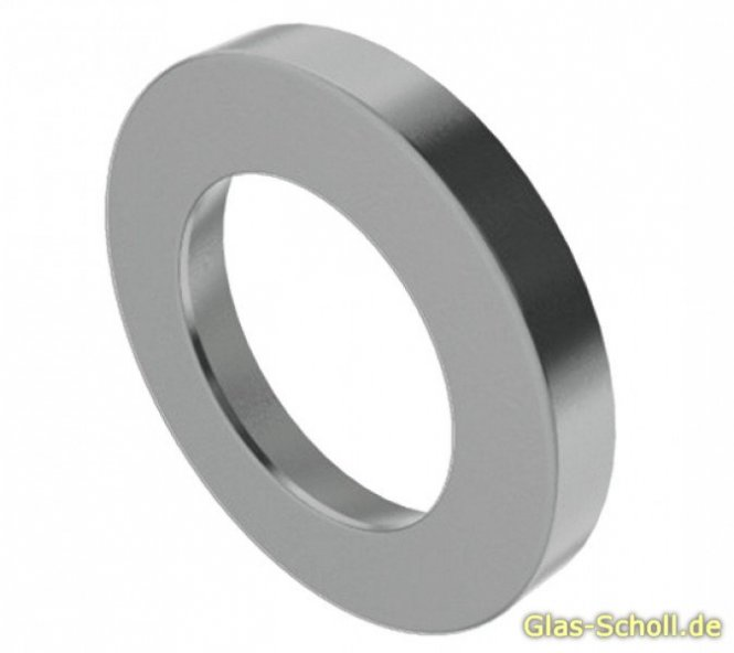 eins. verklebbare runde Griffmuschel (Stk) Edelstahl matt d=35 t=4mm