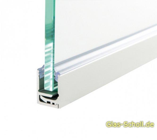 glas scholl webshop rahmen wandanschluss klemmprofil f r ganz glas anlagen f r 8 21 52 mm glas. Black Bedroom Furniture Sets. Home Design Ideas