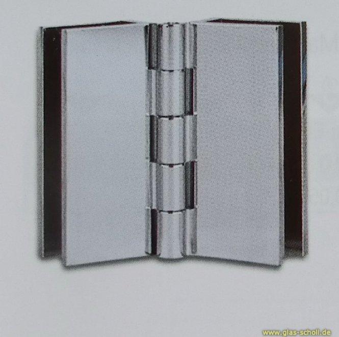 Spiegel-Klapptürscharnier doppelt (groß)
