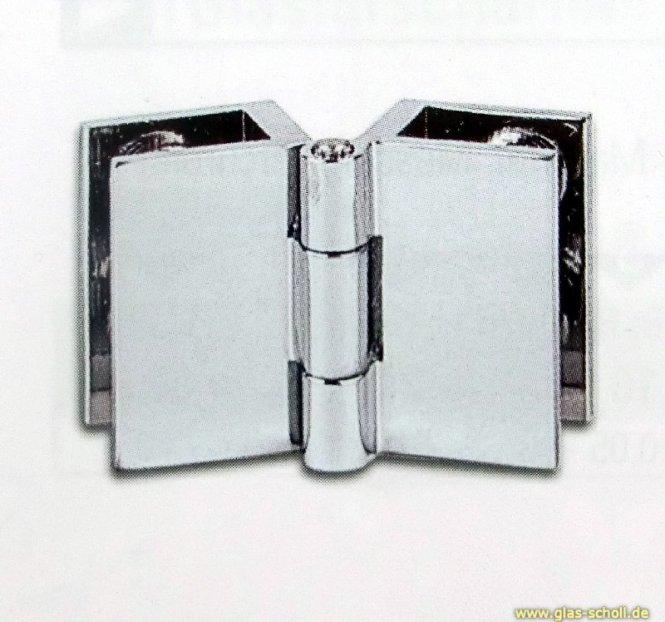 Spiegel-Klapptürscharnier doppelt (klein)