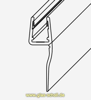 glas scholl webshop dichtprofil mit langer lippe 2010mm. Black Bedroom Furniture Sets. Home Design Ideas