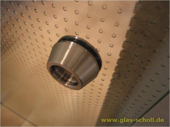 schraubbare Edelstahl-Griffmuschel d=50 für Loch 38mm Edelstahl geschliffen