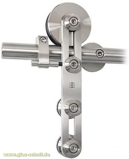 MWE ProTec Schiebetürsystem für Glastüren l=1990 d=25mm