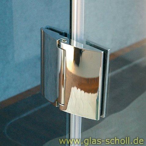 Papillon 180° Glas-Glas Duschtür-Anschlagband (selbstschl. Magnettechnik) glanzverchromt