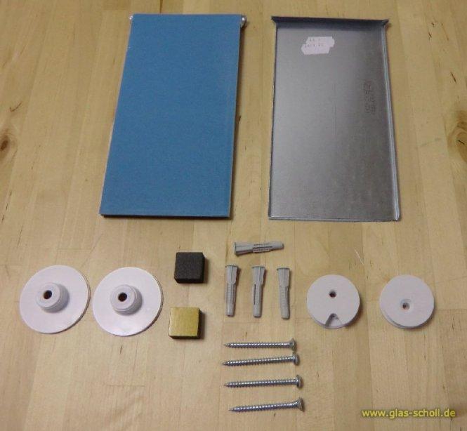 unsichtbares Spiegelmontageset -1,6m² bei 6mm Spiegeldicke (max.24kg)
