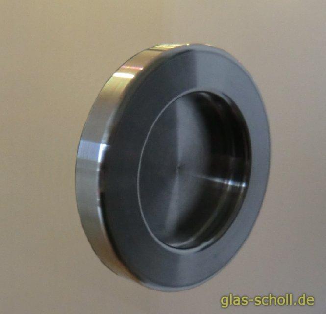 1Stk selbstklebende runde Edelstahl Griffmuschel (kein Loch nötig) (kein Paar!) d=64 Edelstahl