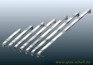 rechteckige Stabilisierungsstange GLAS-GLAS verstellbar (Länge auswählen)  940-1100 mm
