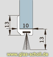glas scholl webshop schiebet r dichtungsprofil spaltma e 10 5 13 mm 3000mm niro matt. Black Bedroom Furniture Sets. Home Design Ideas