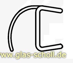 glas scholl webshop schlanke spaltdichtung mit gebogener weichlippe 2010mm duschdichtung f r. Black Bedroom Furniture Sets. Home Design Ideas