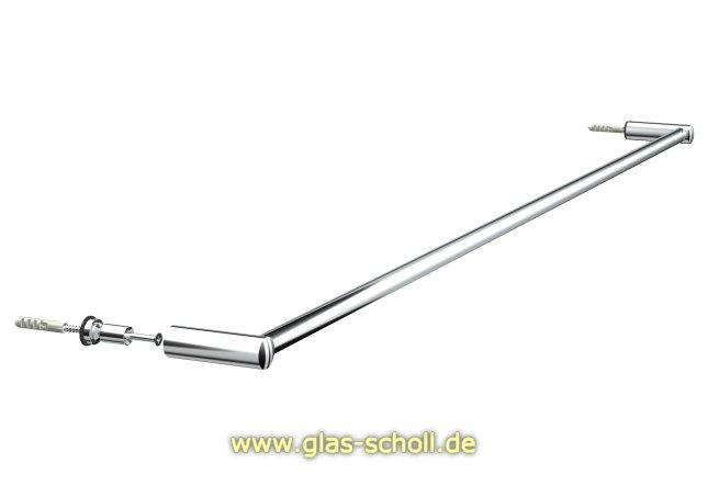 glas scholl webshop handtuchhalter rund zur glas oder wandmontage k rzbar glanzverchromt. Black Bedroom Furniture Sets. Home Design Ideas