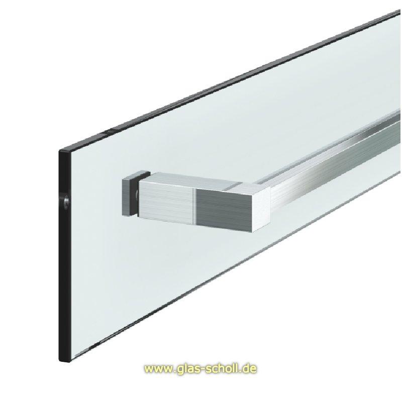 Glas scholl webshop k rzbarer handtuchhalter eckig glas for Glas beistelltische eckig