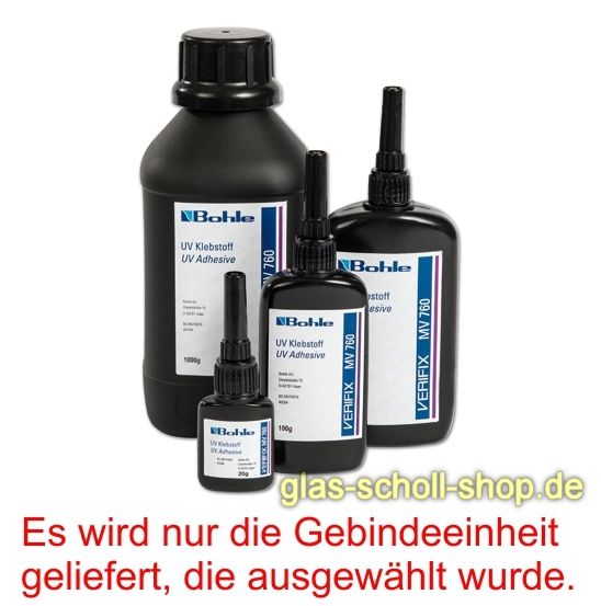 glas scholl webshop uv klebestoff verifix mv 760 20ml aush rtung durch uv strahlung 20g. Black Bedroom Furniture Sets. Home Design Ideas