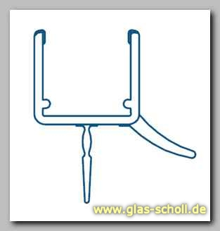 glas scholl webshop unteres wasserabweisprofil mit 135 lippe 1000mm duschdichtung f r 10. Black Bedroom Furniture Sets. Home Design Ideas