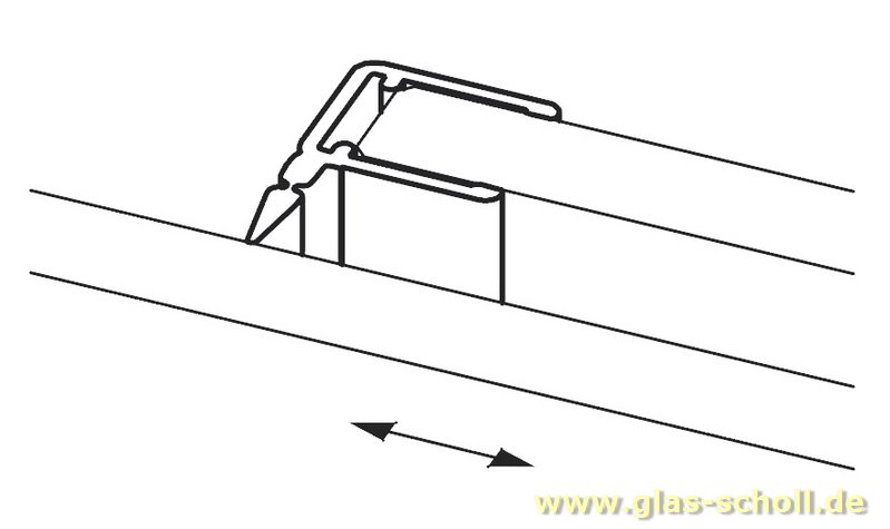 glas scholl webshop dichtprofil 11mm f r schiebet ren. Black Bedroom Furniture Sets. Home Design Ideas