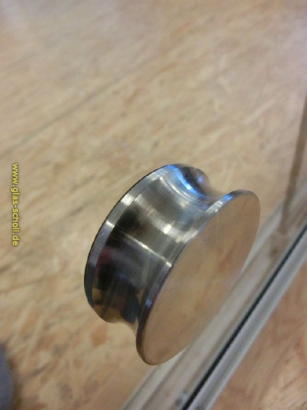 glas scholl webshop edelstahl griffmuschel d 50mm einseitig zum aufkleben artikel rund ums. Black Bedroom Furniture Sets. Home Design Ideas