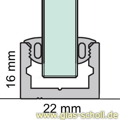 Glas Scholl Webshop Boden Wand Profil Mit Silikonband U Profil